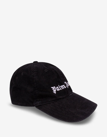 Black Logo Trim Beanie Hat