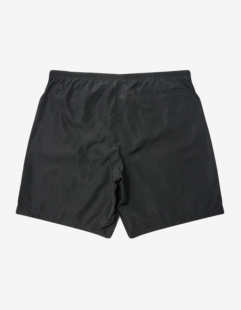 Black Curved Logo Swim Shorts