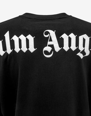 Black Logo Print Long Sleeve Oversized T-Shirt