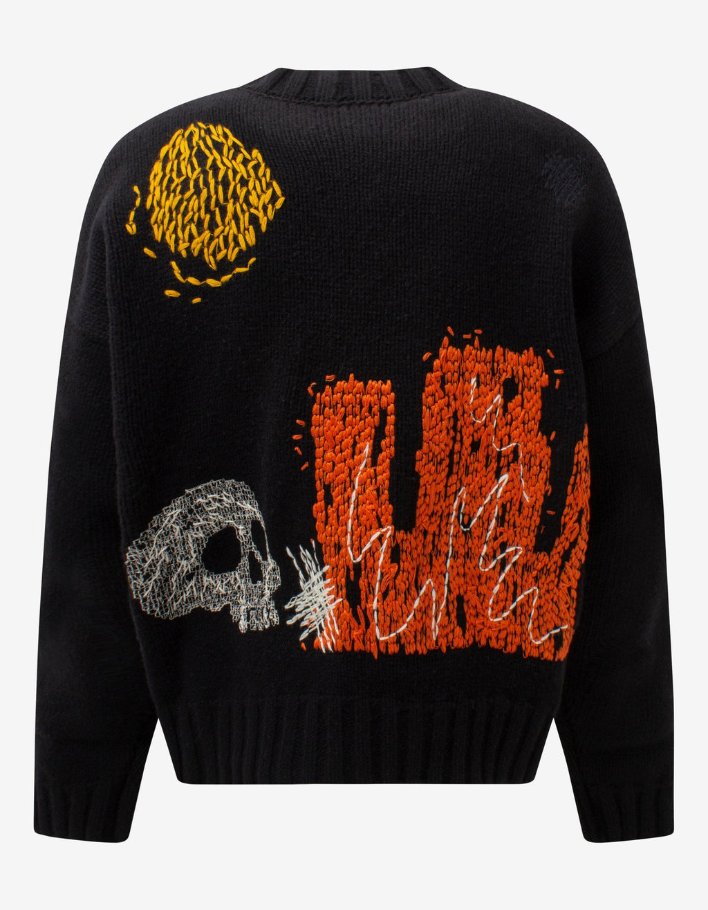 Black New Folk Embroidered Sweater -