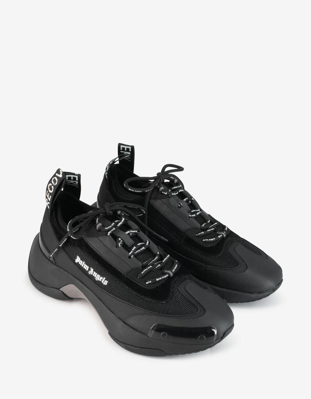 Black Recovery Lace-Up Trainers