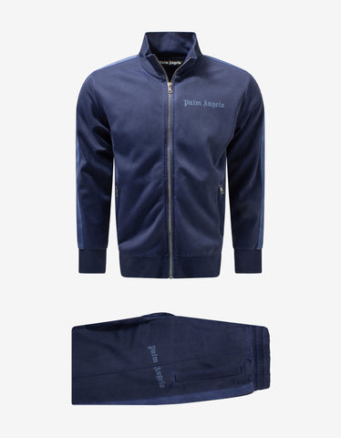 Navy Blue Logo Track Jacket