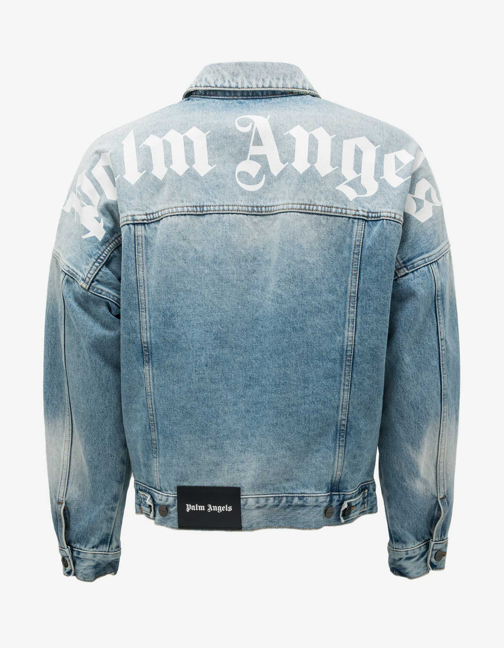 Blue Logo Print Oversized Denim Jacket
