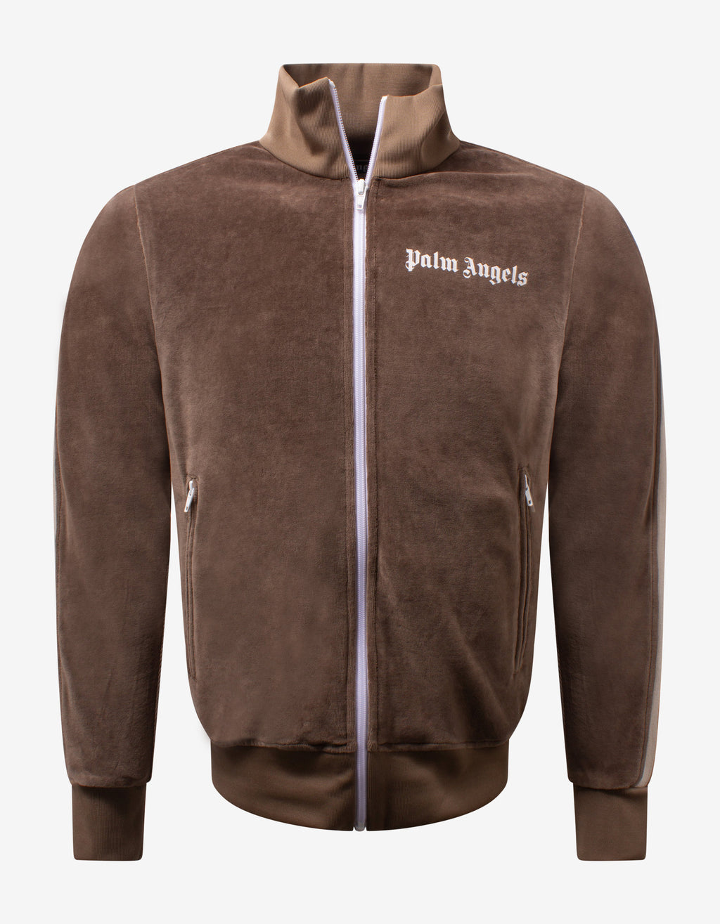 Brown Chenille Track Jacket