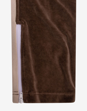 Brown Chenille Track Pants