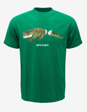Green Crocodile Print T-Shirt