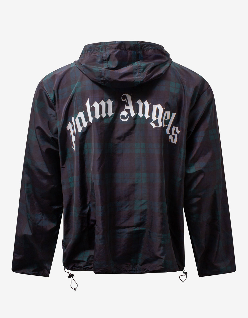 Green & Black Plaid Windbreaker