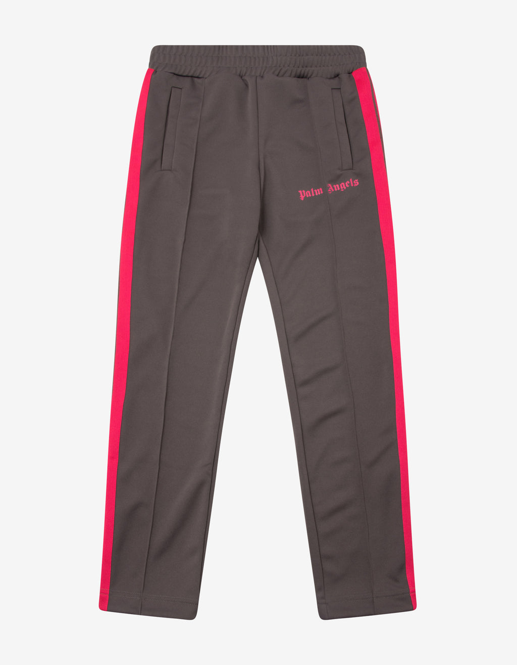 Grey Track Pants with Magenta Stripes