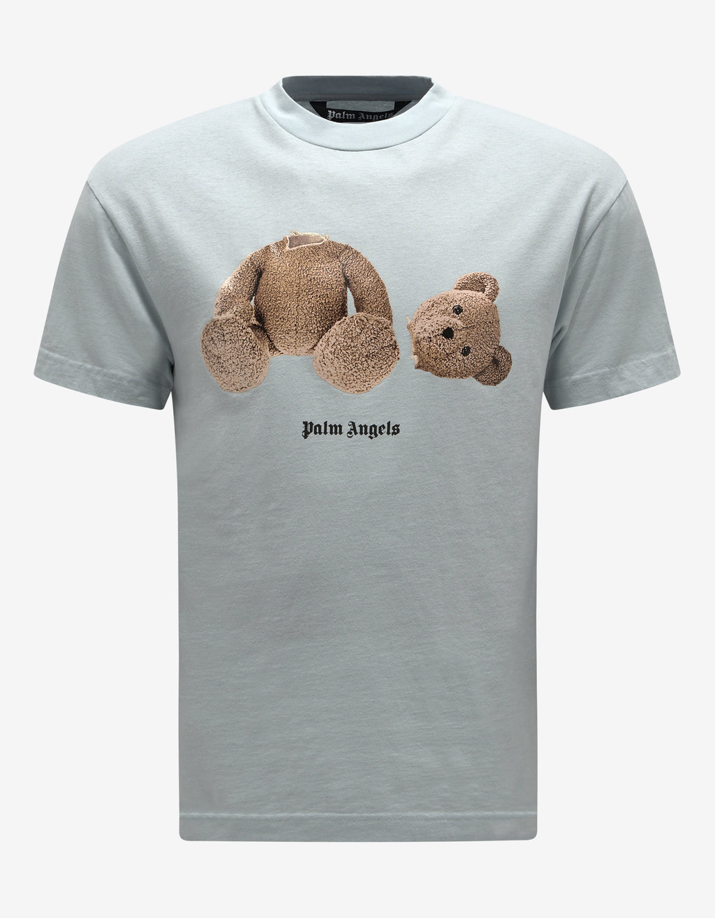 Light Blue Bear Print T-Shirt