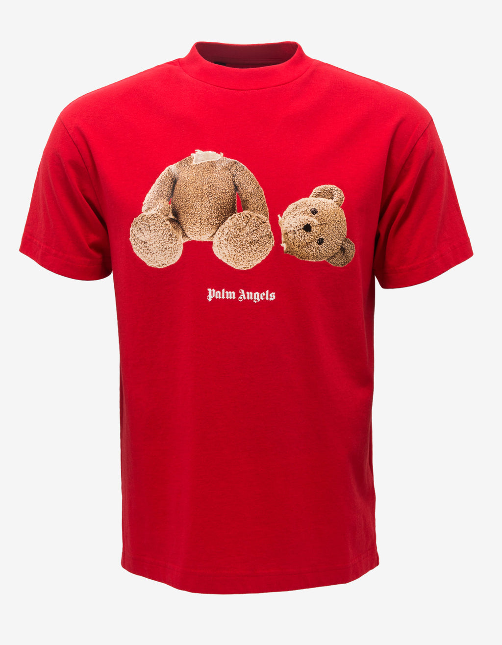Red Bear Print T-Shirt