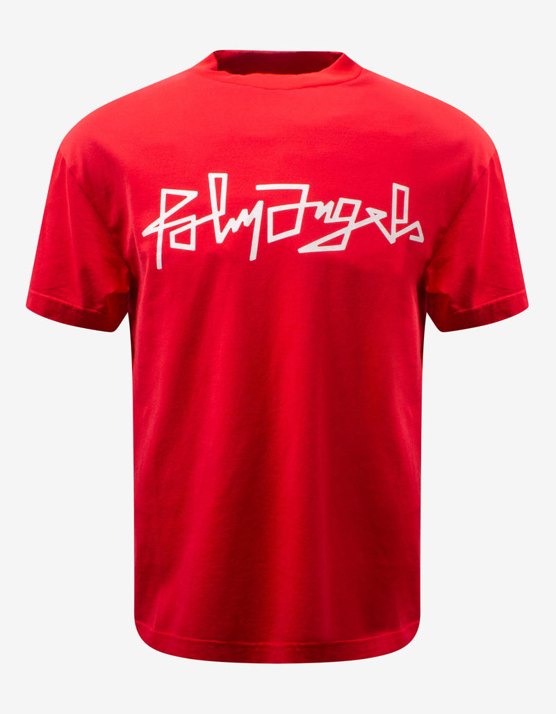 Red Desert Logo Print T-Shirt