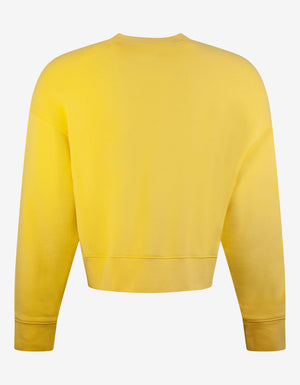 Yellow World In Hands Oversized Sweatshirt