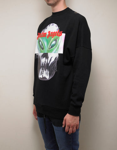 Palm Angels Black Alien Sweatshirt