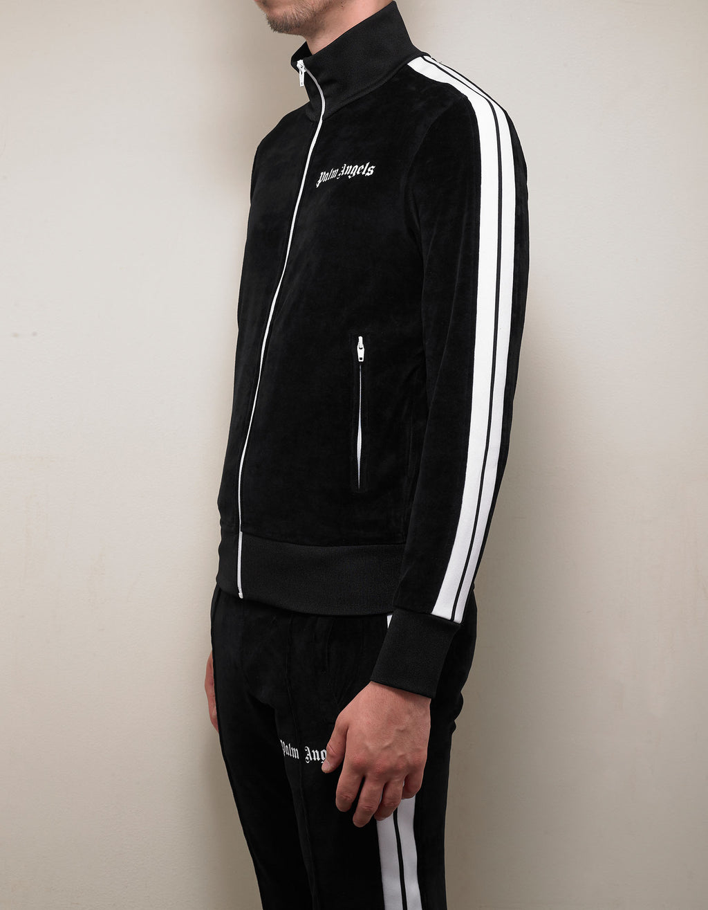 Black Chenille Track Jacket