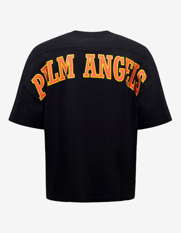 Palm Angels Black New College Logo Print Oversized T-Shirt