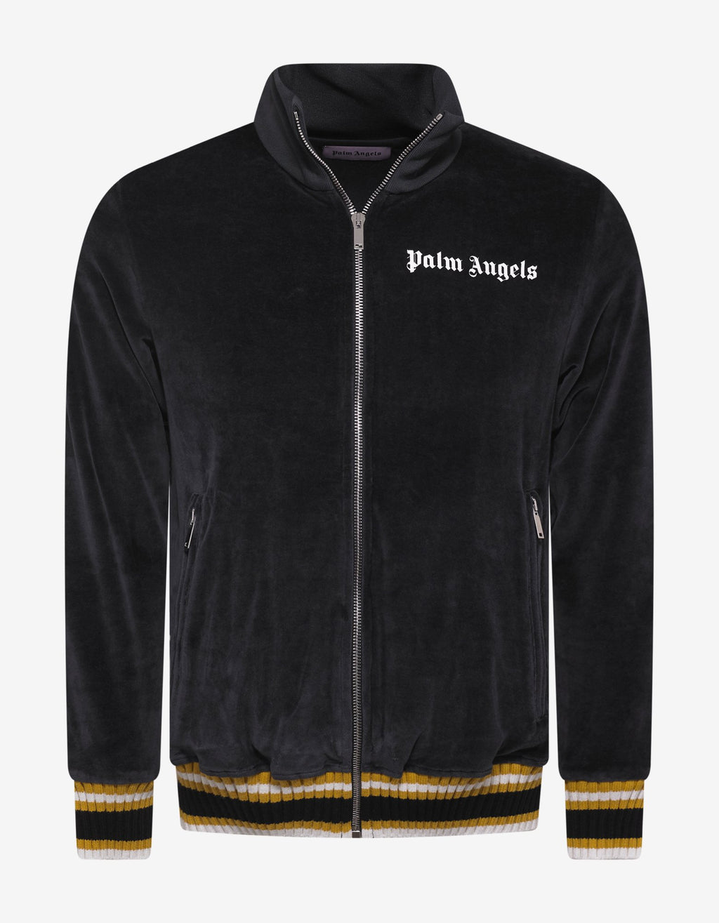 Black & Yellow Chenille Track Jacket -