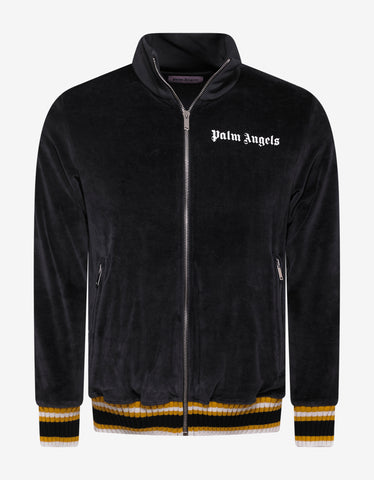 Palm Angels Black & Yellow Chenille Track Jacket