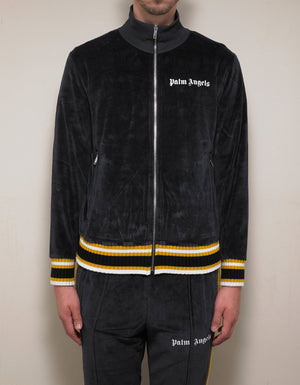 Black & Yellow Chenille Track Jacket