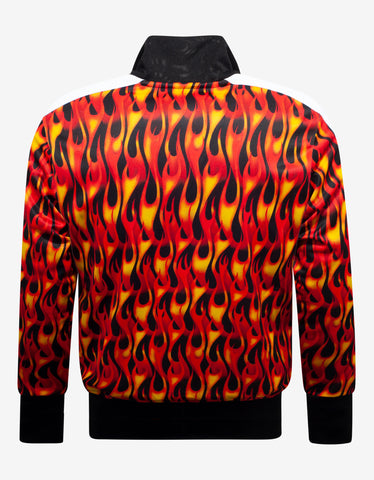 Palm Angels Orange Burning Print Track Jacket