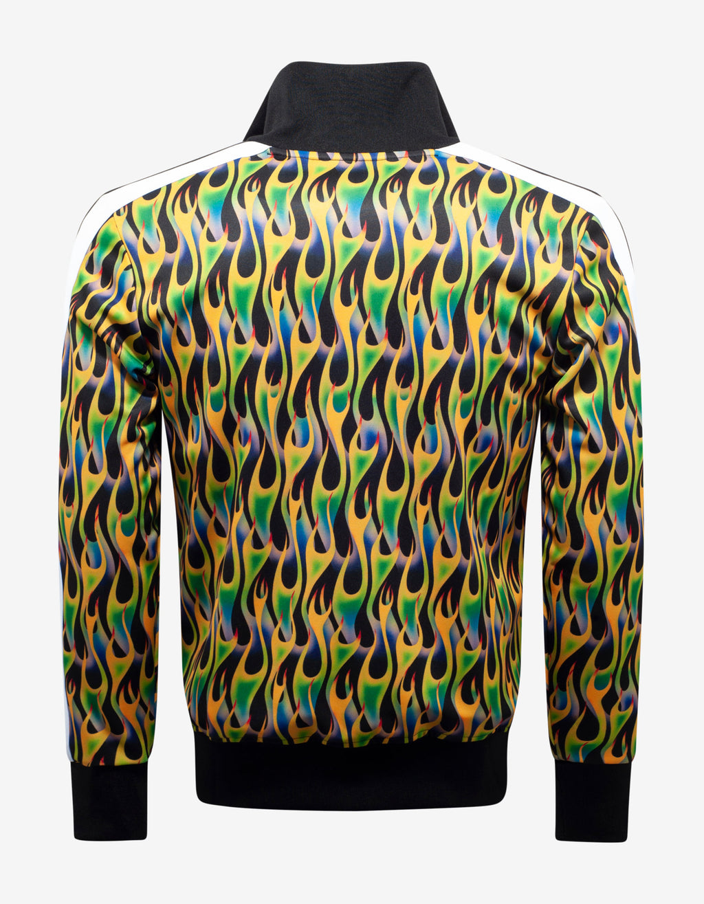 Green Burning Print Track Jacket
