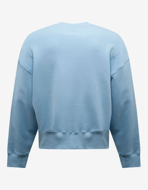 Light Blue Sunset Print Oversized Sweatshirt