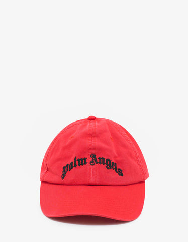 Palm Angels Red Logo Cap