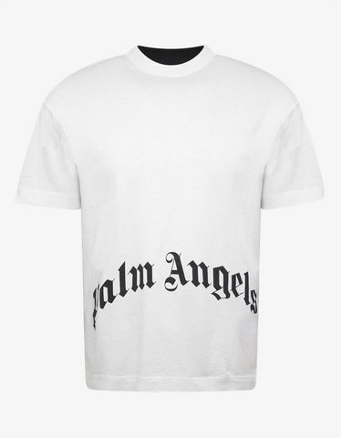 Palm Angels Thinking Skull Contrast Front and Back T-Shirt