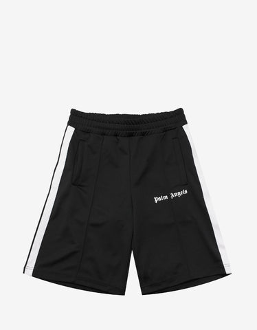 Palm Angels Black Contrast Stripes Track Shorts