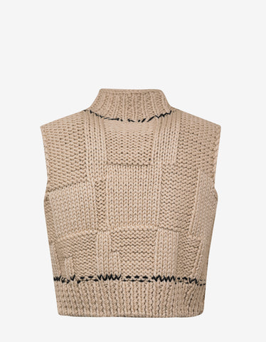 Raf Simons Beige Blow Up Sleeveless Knitwear