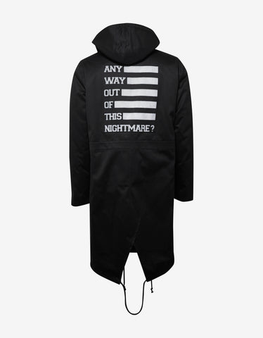 Raf Simons Black Parka with Inside Jacket