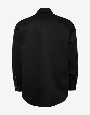 Raf Simons Black RS Logo Carryover Denim Shirt