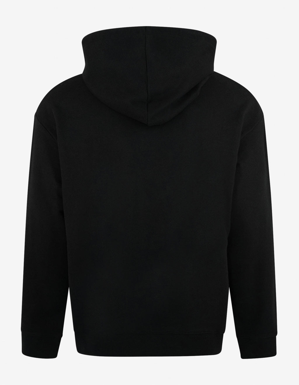 Black Regular Fit Hoodie with Patches