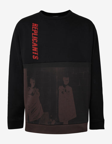 Raf Simons Black Replicants Print Oversized Sweatshirt