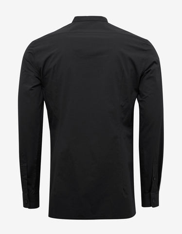 Raf Simons Black Slim Fit Shirt with Neck Strap