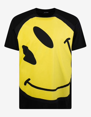 Black Smiley Big Fit T-Shirt