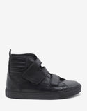 Black Velcro Strap High Top Trainers