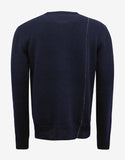 Navy Blue Sweater with Stitch Detail