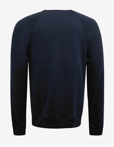 Raf Simons Navy Blue 'R' Patch Sweatshirt