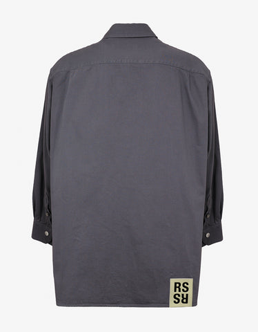 Raf Simons Grey Oversized Easy Fit Shirt