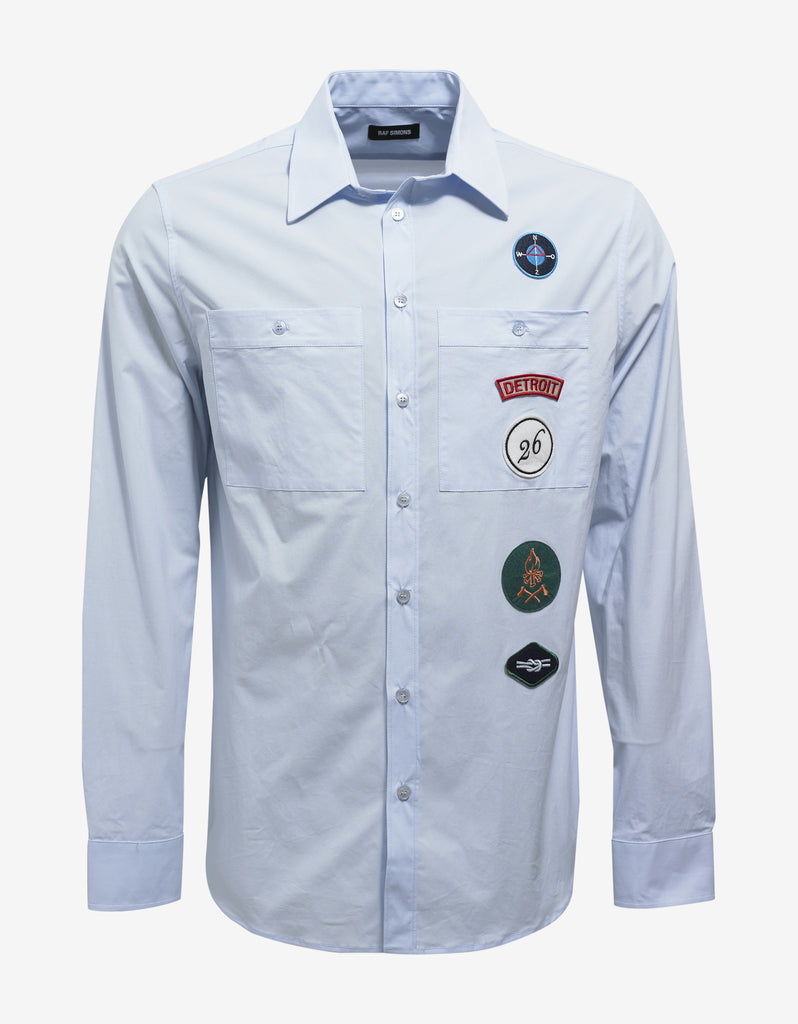Light Blue Shirt with Badges