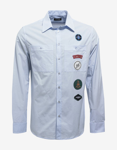 Raf Simons Light Blue Shirt with Badges