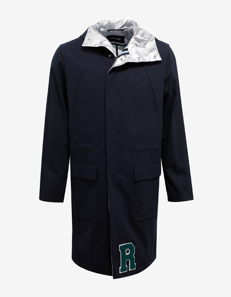 Navy Blue Parka with Silver Interior