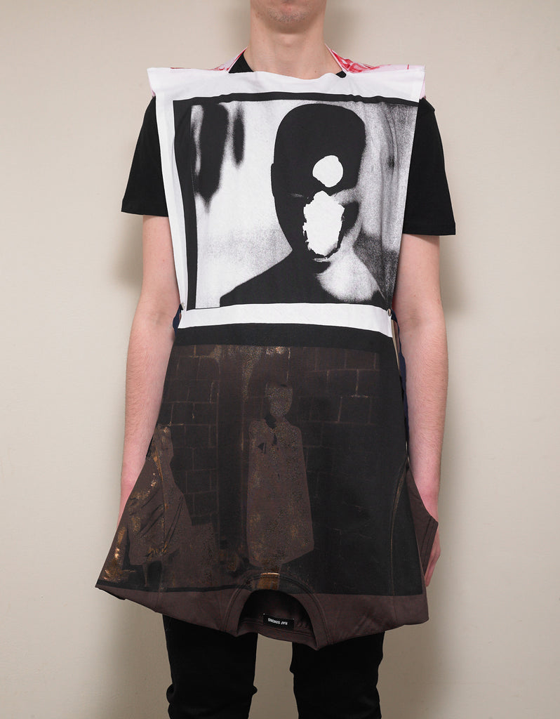 Patched Two-Way T-Shirt