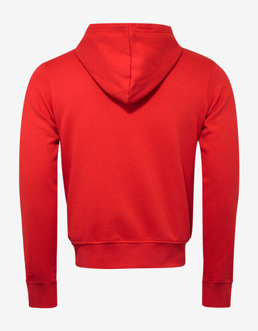 Raf Simons Red 'Walk With Me' Slim Fit Hoodie