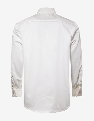 Raf Simons White Logo Patch Denim Shirt