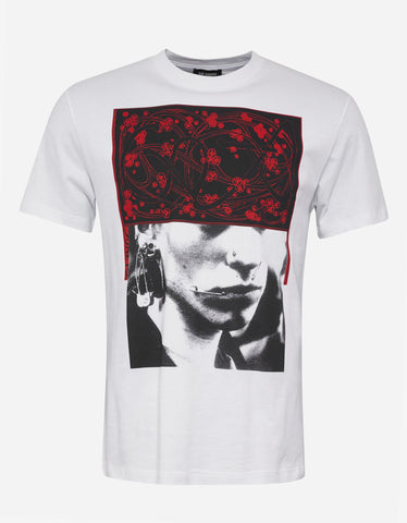 Raf Simons White Pierced Mouth Print T-Shirt