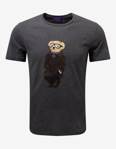 Black Ski Bear Logo T-Shirt