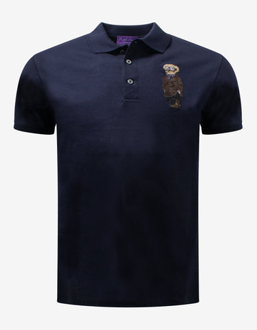 White Bear Embroidery Polo T-Shirt