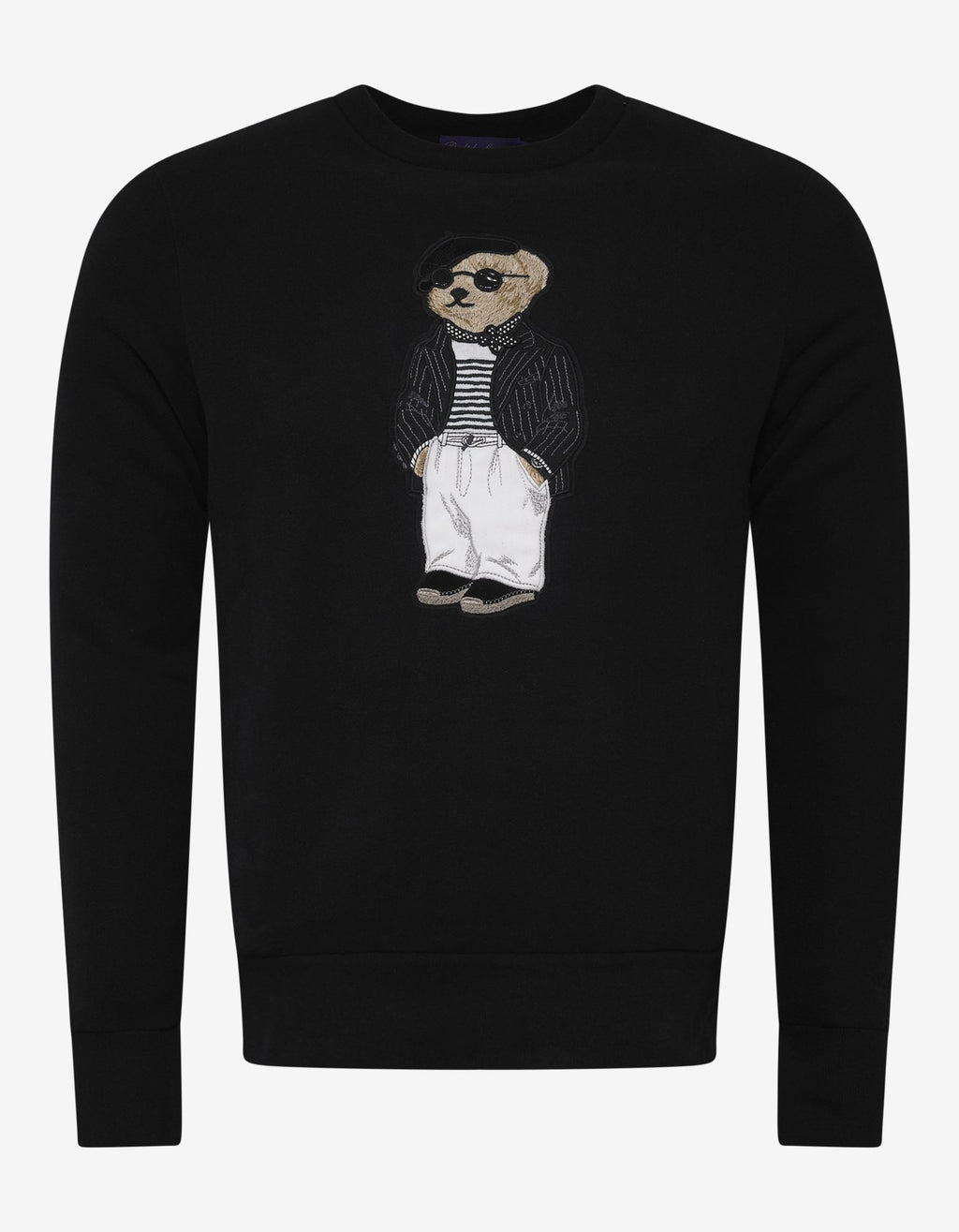 Black Bear Embroidery Sweatshirt -
