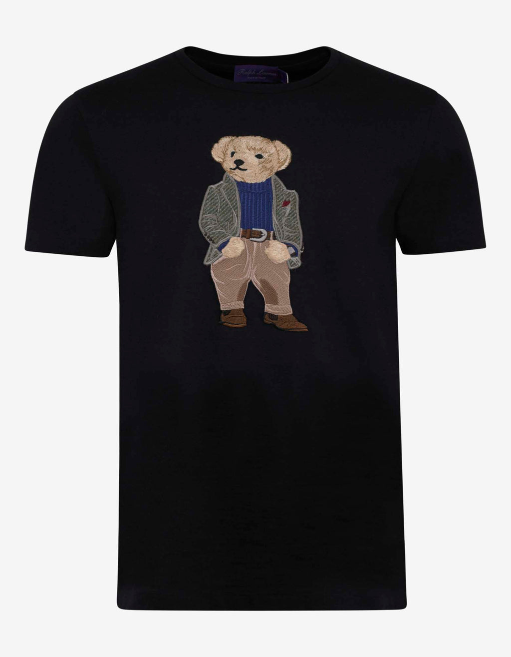 Navy Blue Bear Embroidery T-Shirt
